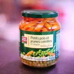 PETITS POIS / CAROTTES A L'ETUVEE